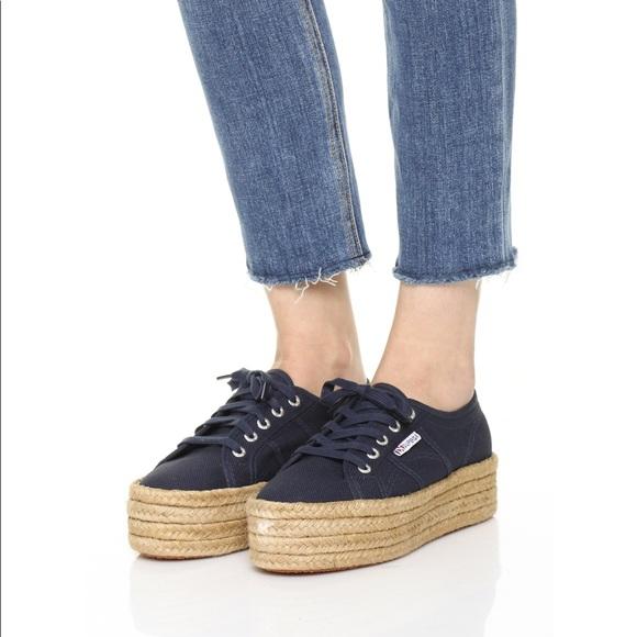 Superga Shoes | Superga Black Platform